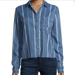 RAILS dana indigo variegated stripe shirt